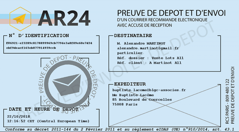 Ar24 Certified Registered Mail