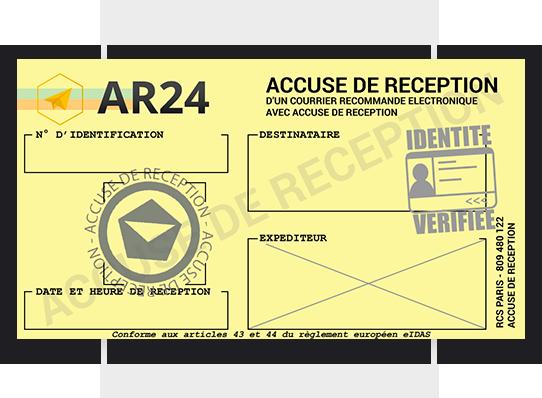 Accuse De Reception D Une Lettre Recommandee Electronique Ar24