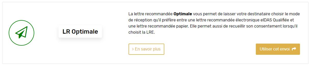 interface lettre recommandée optimale