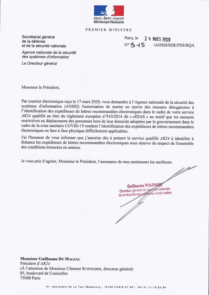 lettre ANSSI