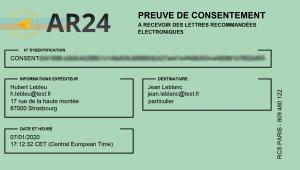 preuve consentement ar24