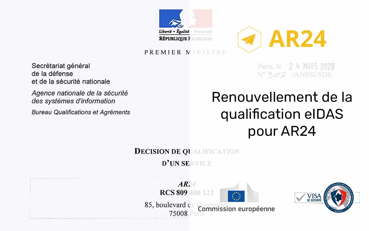 renouvellement qualification eidas ar24