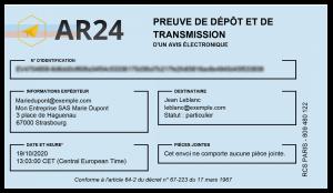 preuve depot transmission