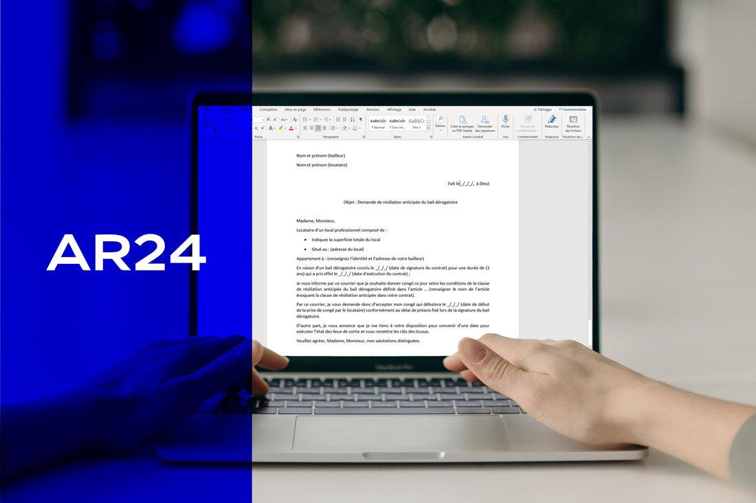 Comment rédiger sa lettre de résiliation anticipée de bail dérogatoire par LRE ?